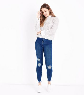 Blue Ripped Skinny Hallie Jeans