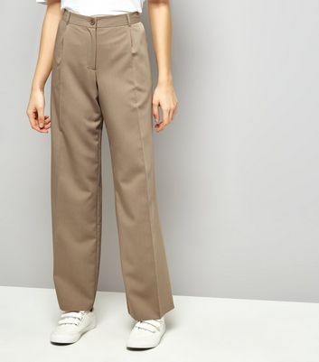 Stone Pleated Wide Leg Pleated Trousers
