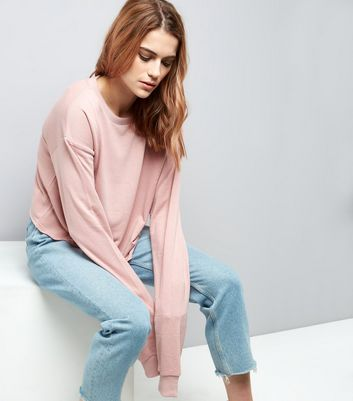 Pink Extra Long Sleeve Sweater
