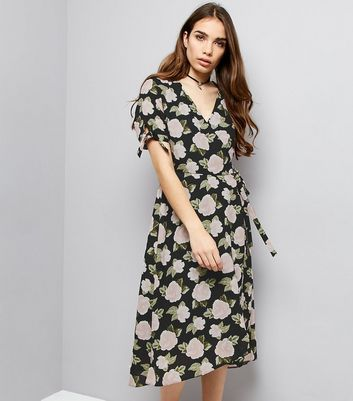 Light Grey Floral Print V Neck Maxi Dress