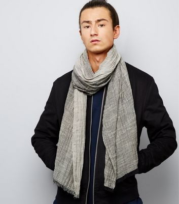 Grey Textured Ombre Scarf
