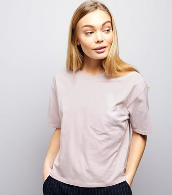 Lilac Single Pocket Boxy T-Shirt