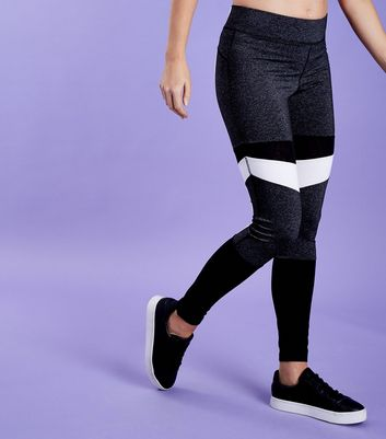 Legging de sport noir color block
