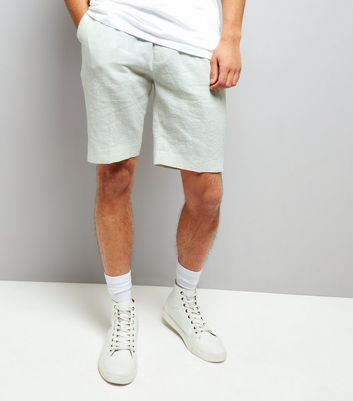 Off White Linen Tailored Shorts