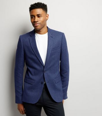 Blue Warm Handle Blazer