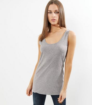 Tall Grey Scoop Neck Vest