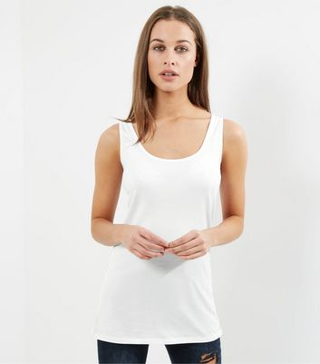 Tall White Scoop Neck Vest