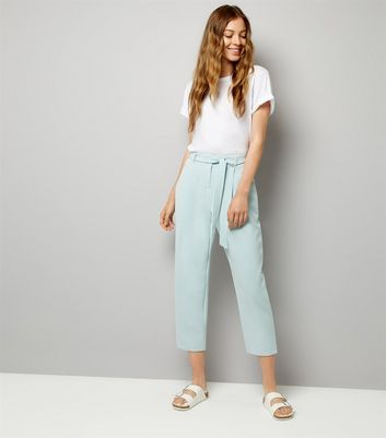 Mint Green Tie Waist Trousers
