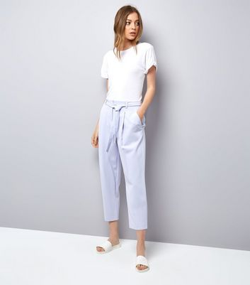 Lilac Tie Waist Trousers