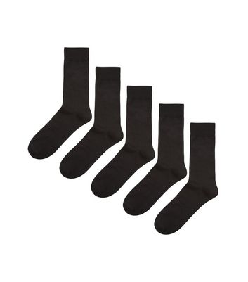 5 Pack Black Socks