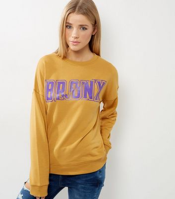 Sweat jaune Bronx