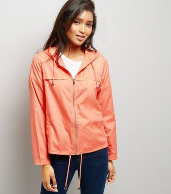 Orange Hooded Fold Away Anorak