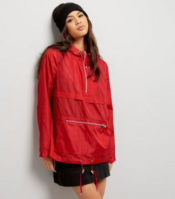 Anorak rouge pliable