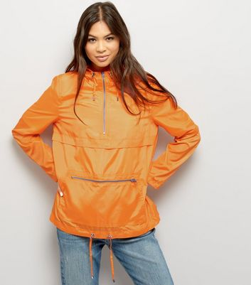 Anorak orange vif pliable