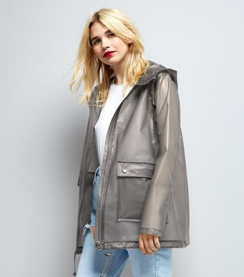 Anorak gris transparent