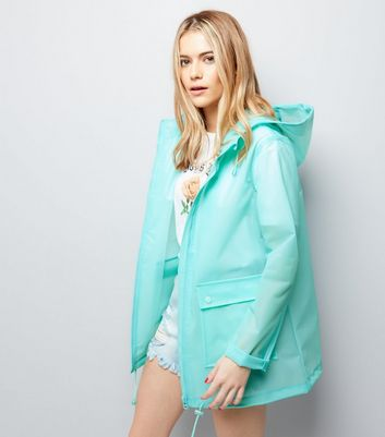 Mint Green Transparent Anorak