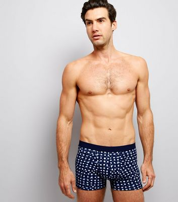 3 Pack Navy Multi Print Boxer Briefs