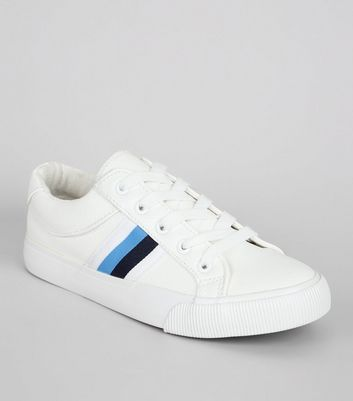 Teens White Stripe Trim Trainers