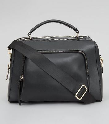 Black Chunky Zip Luggage Bag