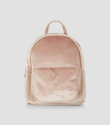 Pink Velvet Mini Backpack