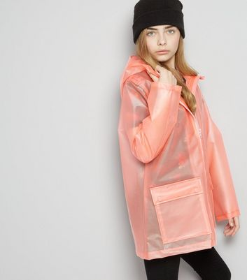 Teens Pink Hooded Anorak