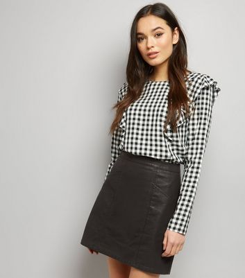 Leather Look Skirts   Faux Leather Skirts   New Look