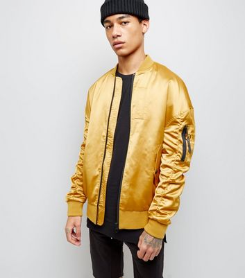 Gold Oversized Bomber Jacket