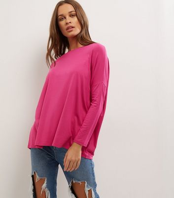 Bright Pink Long Sleeve Jumper
