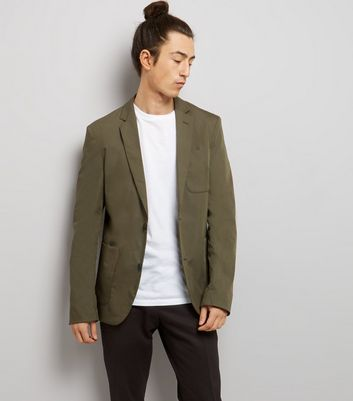 Khaki Cotton Mix Blazer