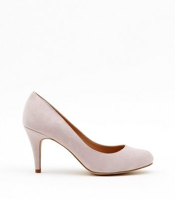 Wide Fit Light Purple Suedette Court Shoes