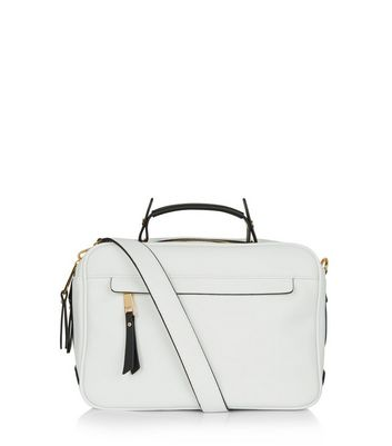 White Shoulder Luggage Bag