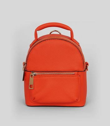 Orange Mini Backpack