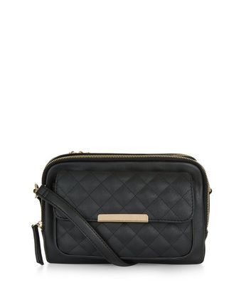 Black Quilted Camera Bag