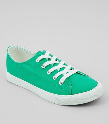 Green Lace Up Trainers