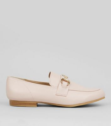 Pink Snaffle Trim Loafers
