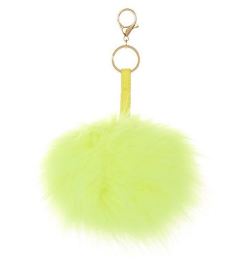 Yellow Oversized Pom Pom Keyring