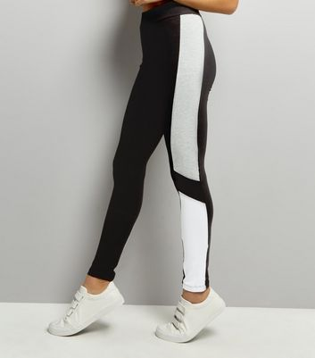 Legging color block gris clair