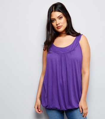 Curves - Weinrotes Tanktop mit Ballonsaum
