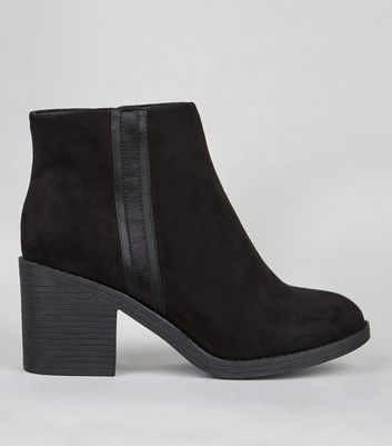 Wide Fit Black Side Trim Boots