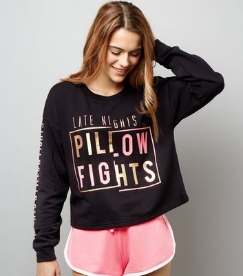 Ensemble de pyjama noir Late Nights and Pillow Fights