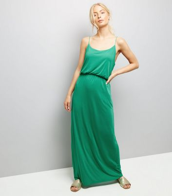 JDY Mint Green Strappy Maxi Dress