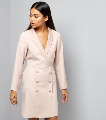 Petite Shell Pink Tuxedo Dress
