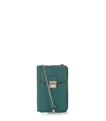 Green Leather Look Camera Bag