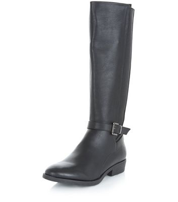 Black Elasticated Side Boots