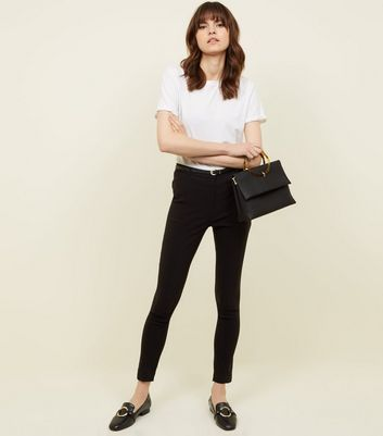 Black Slim Leg Bengaline Trousers