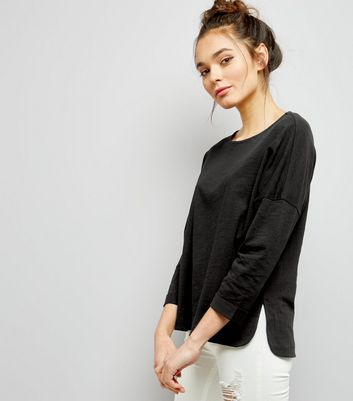 Black 3/4 Sleeve Top