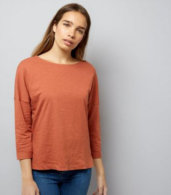 Light Brown 3/4 Sleeve Top