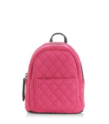 Pink Quilted Mini Backpack