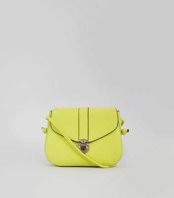 Neon Green Mini Saddle Bag