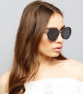 Black Round Lense Sunglasses